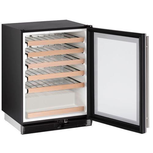 "24"" Wine Refrigerator With Stainless Frame Finish (115 V/60 Hz Volts /60 Hz Hz)"