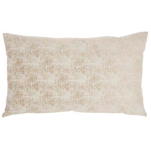 "Life Styles Et438 Beige 14"" X 24"" Throw Pillow"