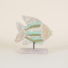 Natural Driftwood Fish On Stand