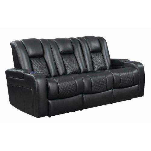 Delangelo Black Power Motion Reclining Sofa