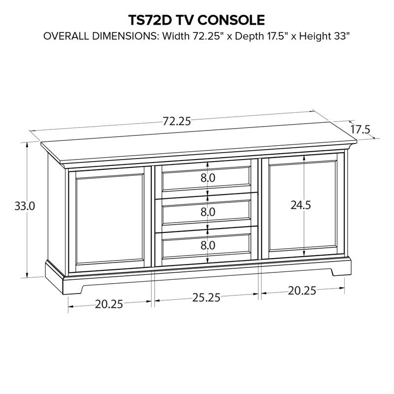 Howard Miller Custom TV Console TS72D