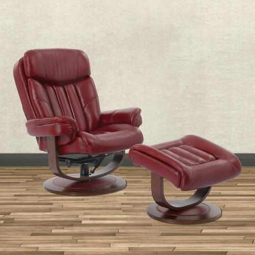 Parker House - PRINCE - ROUGE Manual Reclining Swivel Chair and Ottoman