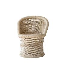 """Product Image - 13-1/2""""L x 13-1/2""""W x 20""""H Bamboo & Rope Chair"""