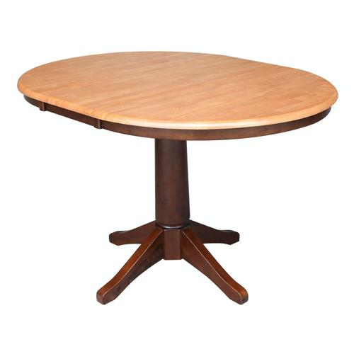 Round Extension Table in Cinnamon/Espresso