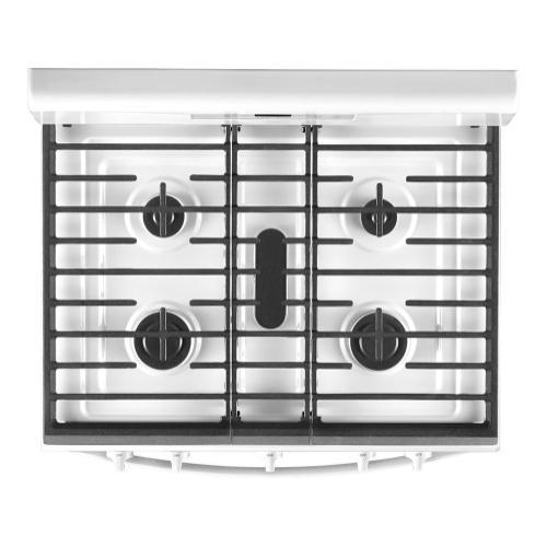 Whirlpool - 5.0 cu. ft. Whirlpool® gas range with center oval burner