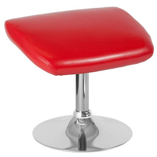Alamont Furniture - Red Leather Ottoman