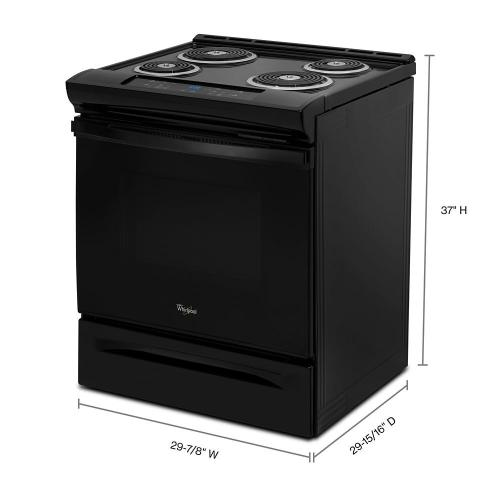Whirlpool - 4.8 cu. ft. Guided Electric Front Control Coil Range