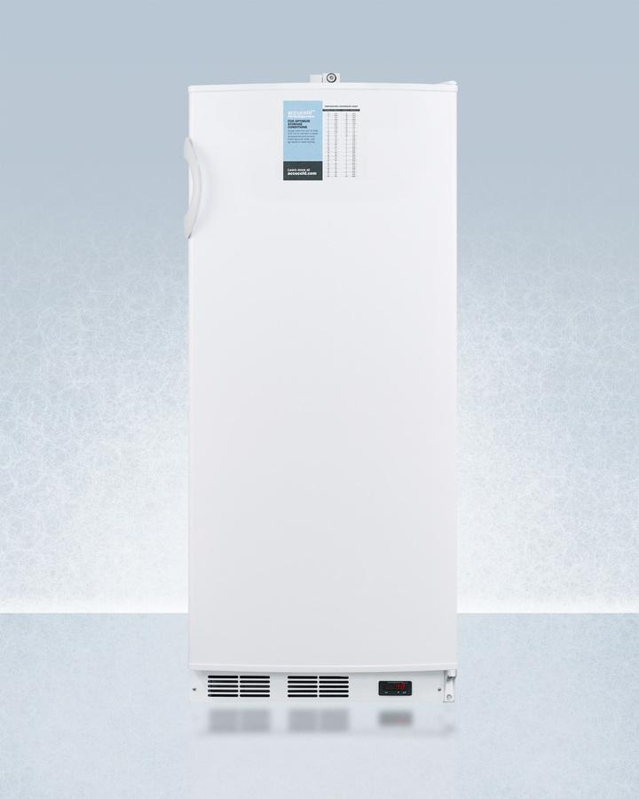 """Summit24"""" Wide 10 Cu.Ft. Auto Defrost Commercial All-Refrigerator With Lock, Digital Thermostat, Internal Fan, And Access Port For User-Provided Monitoring Equipment"""