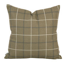 """Product Image - 20"""" x 20"""" Pillow Oxford Moss - Down Insert"""