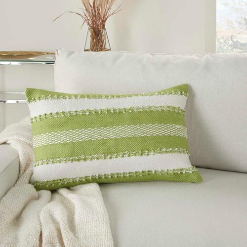 """Outdoor Pillows Vj088 Green 14"""" X 22"""" Throw Pillow"""
