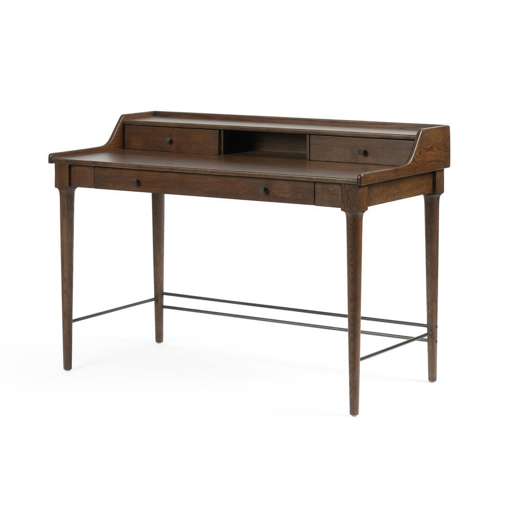 Moreau Writing Desk-dark Toasted Oak