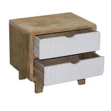See Details - Nightstand - Deco White Finish