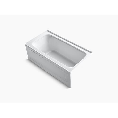 "Biscuit 60"" X 32"" Alcove Bath With Integral Apron, Integral Flange and Right-hand Drain"