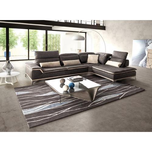 VIG Furniture - David Ferrari Volare - Italian Modern Grey Fabric Right Facing Sectional Sofa