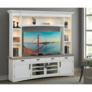 AMERICANA MODERN - COTTON 92 in. TV Console with Hutch and LED Lights Product Image