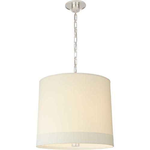 Visual Comfort - Barbara Barry Simple Banded 2 Light 24 inch Soft Silver Pendant Ceiling Light