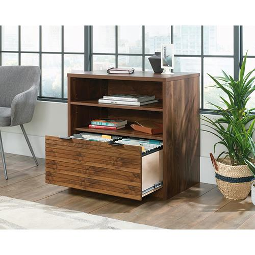 Lateral Filing Cabinet with Open Shelf