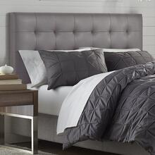 Mila Full or Queen Headboard, Taupe Faux Leather