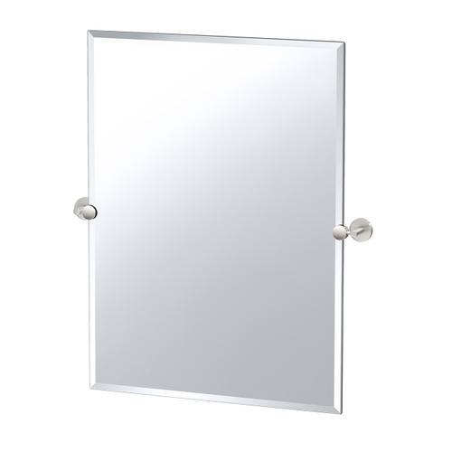 Sky Rectangle Mirror in Satin Nickel