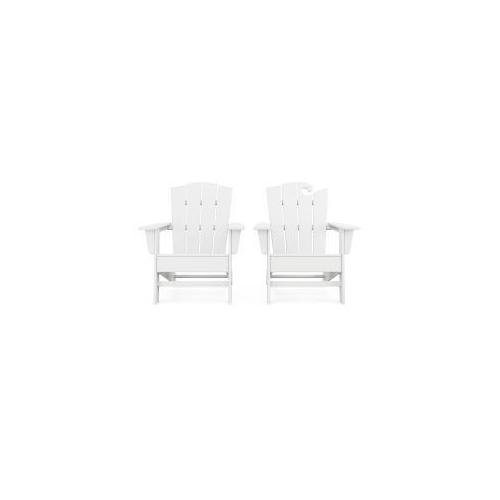Polywood Furnishings - Wave 2-Piece Adirondack Chair Set with The Crest Chair in White