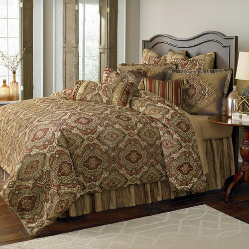 12 pc Queen Comforter Set Lichen