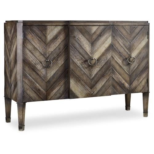 Living Room Chevron Console