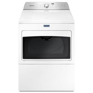 Large Capacity Gas Dryer with IntelliDry® Sensor - 7.4 cu. ft. White - WHITE