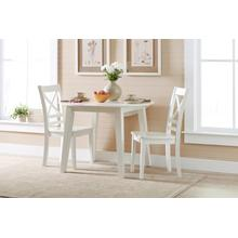 Simplicity Round Drop Leaf Table W/(2) X Back Chairs