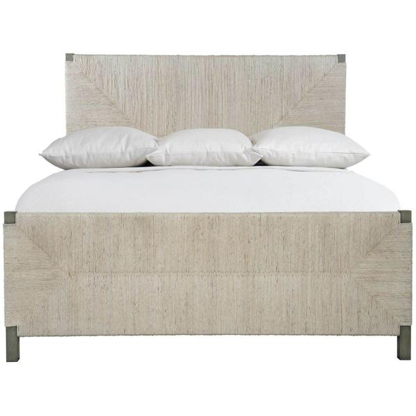 See Details - Queen-Sized Alannis Woven Panel Bed in Rustic Gray