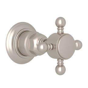 Trim for Volume Control and 4-Port Dedicated Diverter - Satin Nickel with Cross Handle