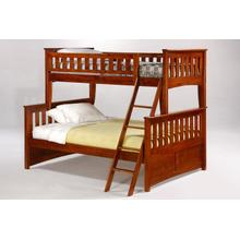 Ginger Twin Full Bunk in Cherry Finish*