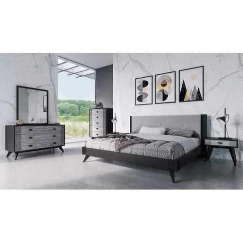 VIG Furniture - Nova Domus Panther Contemporary Grey & Black Dresser