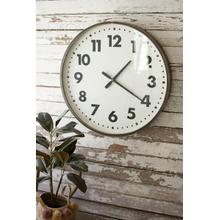 See Details - round black and white wall clock