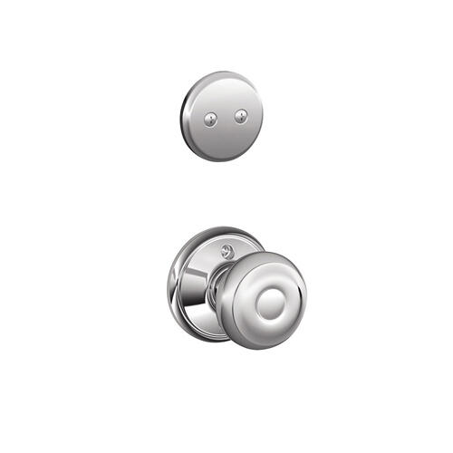 Addison In-active Handleset and Georgian Knob - Bright Chrome