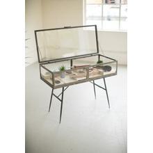 See Details - metal framed glass display cabinet