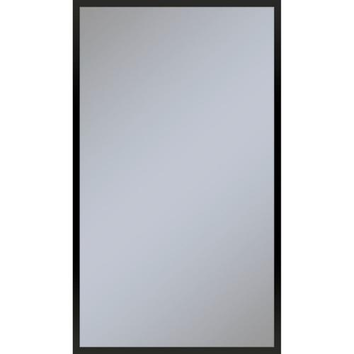 "Profiles 23-1/4"" X 39-3/8"" X 4"" Framed Cabinet In Matte Black and Non-electric With Reversible Hinge (non-handed)"