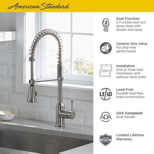 American Standard - Pekoe 1-Handle Semi-Professional Kitchen Faucet  American Standard - Polished Chrome