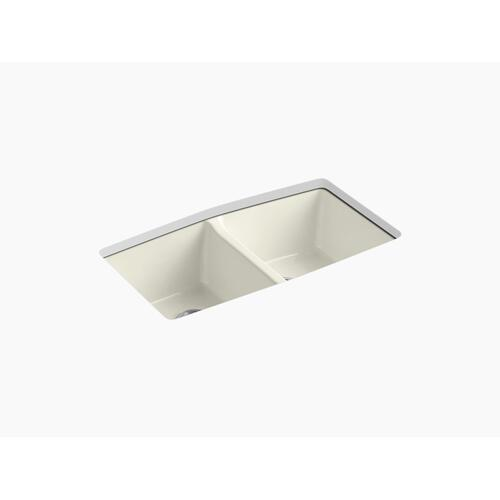 "Biscuit 33"" X 22"" X 9-5/8"" Undermount Double-equal Kitchen Sink"