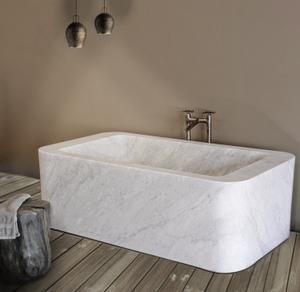 One of A Kind Bathtubs Rectangle / Carrara Marble Product Image