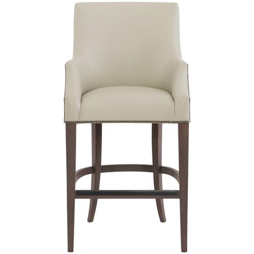 Gallery - Keeley Leather Bar Stool in Cocoa Finishes Available Cocoa (CN1) Portobello (PN1) Smoke (SN1) Nailhead Finish Shown #44 Antique Nickel