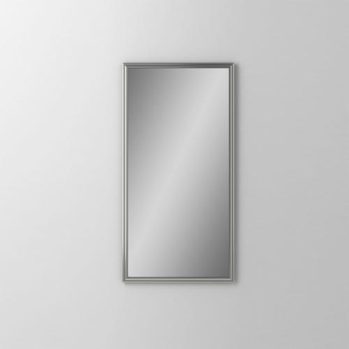 "Main Line 19-1/8"" X 39-7/8"" X 1-5/8"" Rosemont Framed Mirror In Satin Nickel"