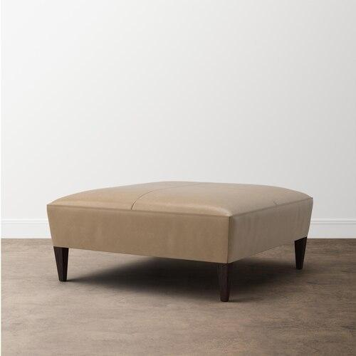 Rory Leather Rectangle Ottoman
