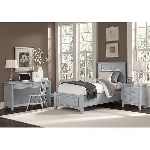 Vaughan-Bassett - Mansion Bed with Storage Footboard Twin & Full