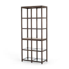 Wray Bookshelf-cocoa Oak