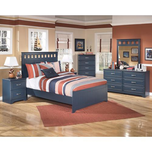 Leo Full Blue Bedframe