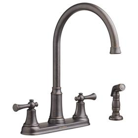 Portsmouth 2-Handle 1.5 GPM High-Arc Kitchen Faucet with Side Spray  American Standard - Oil Rubbed Bronze