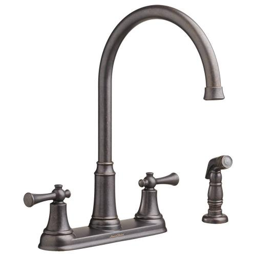 American Standard - Portsmouth 2-Handle 1.5 GPM High-Arc Kitchen Faucet with Side Spray  American Standard - Oil Rubbed Bronze