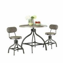 ACME Fatima 3Pc Pack Adjustable Counter Height Set - 73130 - Gray Oak