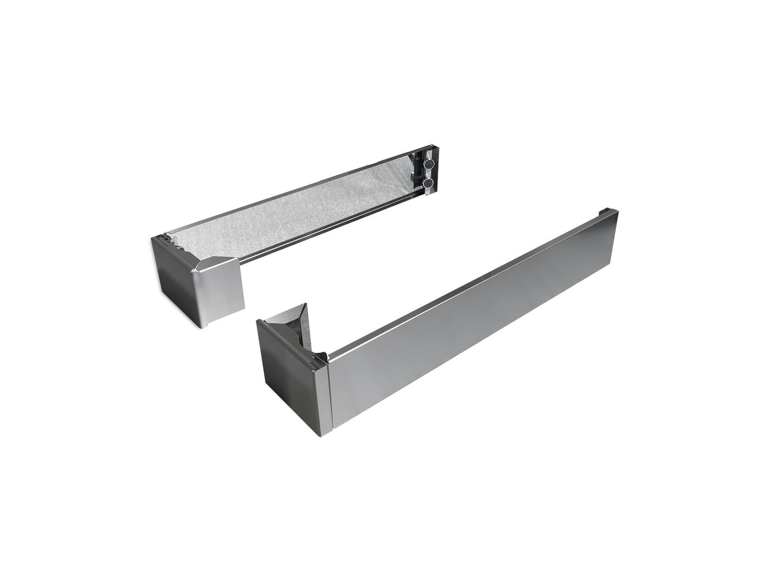 Toekick Panels square legs covers Stainless Steel