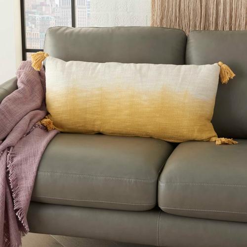 "Life Styles Aq130 Mustard 14"" X 30"" Throw Pillow"
